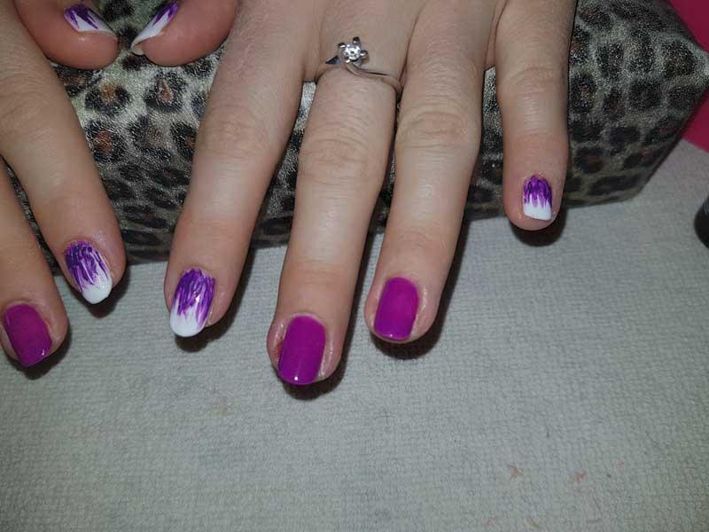 tutorial nail art colore acrilico e semipermanente