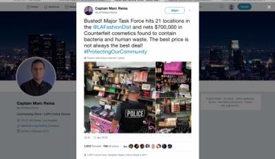 make-up contraffatto