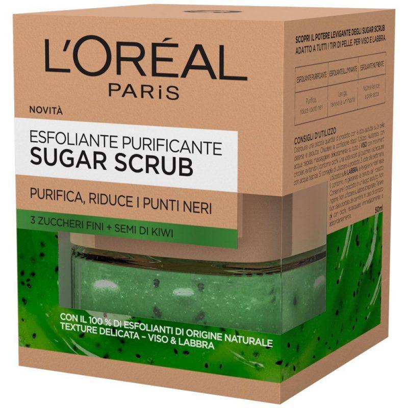 Sugar Scrub Esfoliante Purificante Viso&Labbra di L'Oréal Paris